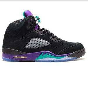 air Jordan 5 retro black/ teal/ purple